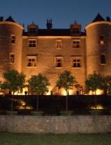 Chateau Lagrezette at night