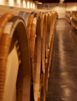 Barrels at Domaine Lagrezette