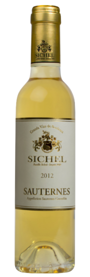 Maison Sichel Sauternes|bottle shot or label of Maison Sichel dessert wine from Sauternes